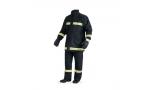 Costum de protectie pentru pompieri bleumarin  FIREMAN  (jacheta + pantalon cu pieptar)