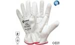 Mănuși din piele vițel albă, căptușeală Thinsulate 022/B