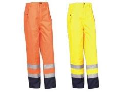 Pantaloni cu căptușeală fixă Bourgogne 350021FON (Portocaliu/Bleumarin)