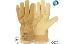 Mănuși din piele porc, căptușeală blană sintetică 025
