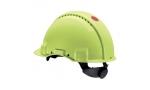 Cască de protecție UVICATOR G3000, sistem fixare rotita  High-Vizibility, verde